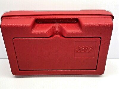 Vintage Early 80s Red Lego Carry Case Storage Container Made In USA Nice Free SH