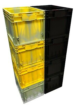 8 x 22 L Heavy Duty KLT Plastic Stacking Euro Storage Containers Boxes Crates