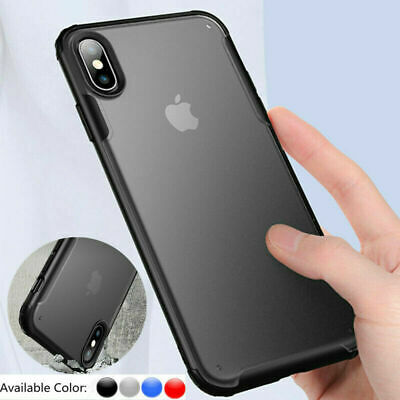 Matte Case Coque Pr iPhone 11 Pro Max Anti Choc Cover Hybride Silicone Bumper