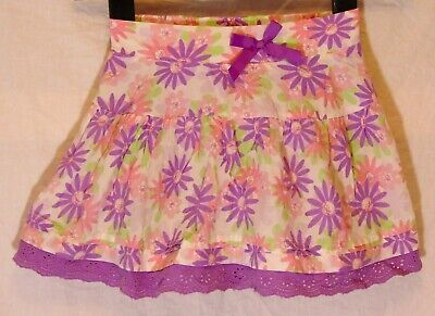 Girls Disney Store Purple Pink Floral Daisy Lace Trim Skorts Skirt Age 5-6 Years