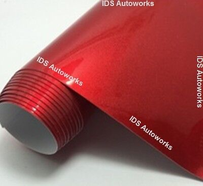 UK Durable Red Glossy Metallic Car Vinyl Wrap Bubble / Air Free