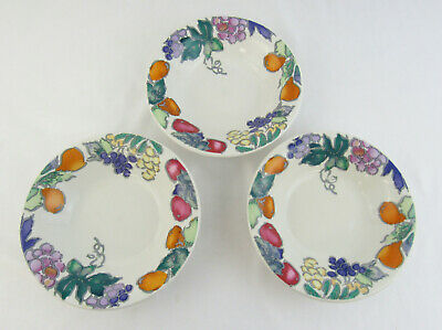 """Gibson """"Sorbet"""" China Set Of 3 Soup or Cereal Bowls"""