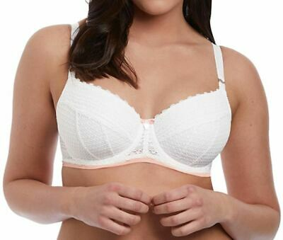 Freya Daisy Lace AA5133 WP Underwired Padded Half Cup Bra White 32 FF CS