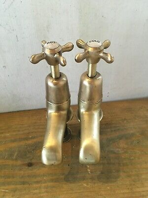 Old Vintage Reclaimed Brass Bath Taps Made In Uk Ideal Traditional Bathroom T33