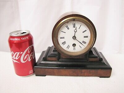 Rare Small Antique French Wooded Case Mantle Clock.Time Only.