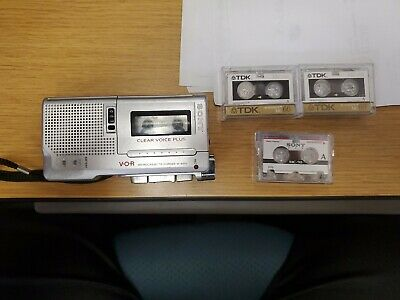Sony Microcassette Recorder M-650V Clear Voice Plus WORKS 3 Tapes included
