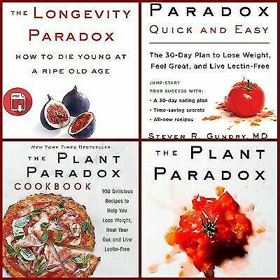 """All 4 The Plant Paradox by Dr. Steven R Gundry English """"Fast Delivery"""""""