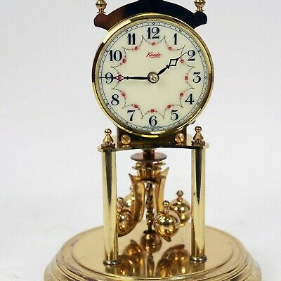 Kundo KIENINGER & OBERGFELL Anniversary Clock with Dome and Key Tested WORKS
