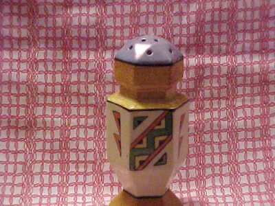 Made in Japan Sugar Shaker Deoc Style. 5 1/2 inches tall Blue Lusterware WOW!!!