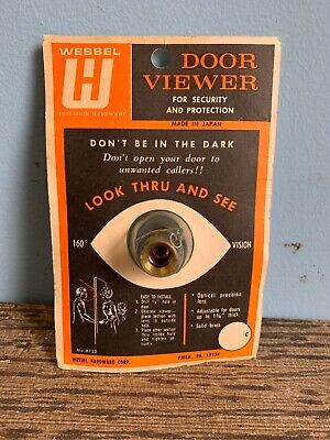 Vintage Wessel Door Viewer Security No8720 Made In USA