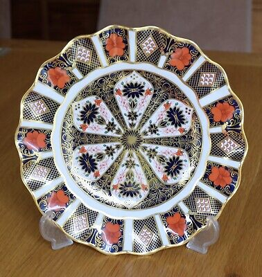 VGC Royal Crown Derby 1982 Imari 1128 Plate Fluted Edge 8 1/2""