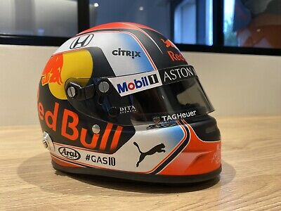 Formula 1 Helmet 1/2 Scale f1 Pierre gasly 2019 Red Bull SIGNED