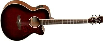 Tanglewood TW4 Winterleaf Super Folk Electro Acoustic, Whisky Barrel Burst Gloss