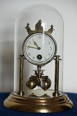 Rare 400 day Anniversary Torsion type clock. Georg Wurthner 'Miget Clock'. 1956