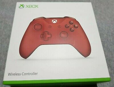 Microsoft Xbox One Official Red Wireless Controller Boxed (no headphone jack)