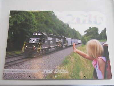 2010 Large Norfolk Southern Railroad Picture Calendar - Great Train Photos