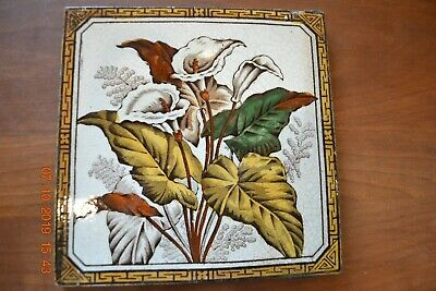 Victorian Antique Aesthetic Tile Floral Callalily flowers Motif