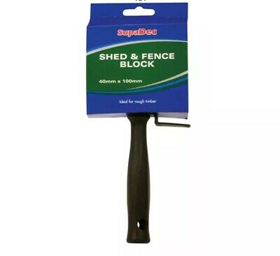 4 inch// 100mm Harris 809 Shed and Fence Block Brush