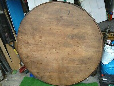 Antique victorian mahogany round table top