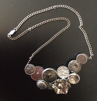 Metal Buttons Necklace 10 Buttons In A Bunch *Very Unique!*