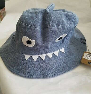Joules Junior Boys Shark Sun Hat Size Age 8 - 12 years.