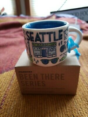 "Starbucks Seattle ""Been There"" Series Coffee Cup 2 Oz Demitasse Mug"""
