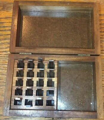 STARRETT WEBBER GAGE BLOCKS Set Of 20 In Wood Case