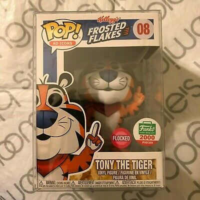 Funko Pop! Kelloggs Frosted Flakes Flocked Tony the Tiger #08 1/2000! HOLY GRAIL