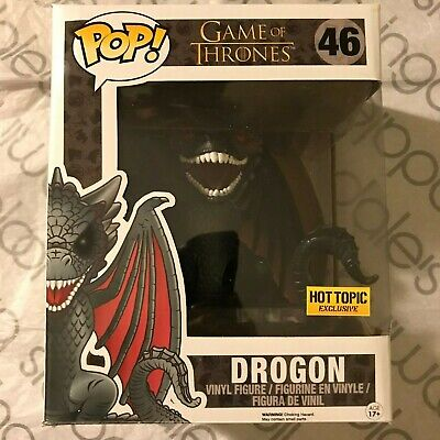 """Funko Pop! Game of Thrones 6"""" Red Eyes Drogon #46 Hot Topic Exclusive! DRACARYS!"""