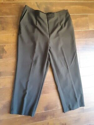 Alfred Dunner Pants Elastic Waistline Chocolate Brown  Women's Size 18W NWT
