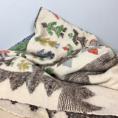 Wool Blanket Hand Woven Vintage South American