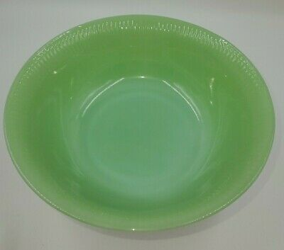 """Fire King JANE RAY* JADEITE* 8 1/4"""" ROUND SERVING BOWL * OVEN WARE *"""