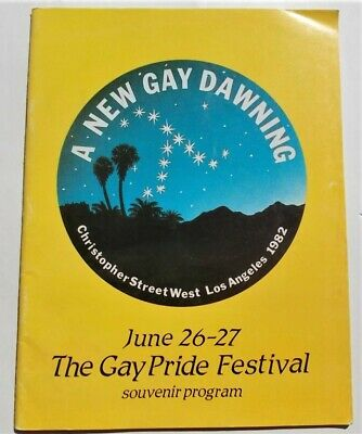 1982 Christopher Street West CSW Gay Pride Festival Parade Program Stonewall