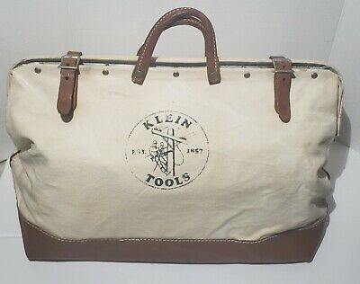 RARE Klein Tools canvas WIDE tool Bag VINTAGE ANTIQUE like to 5102-24 FUNDRAISER