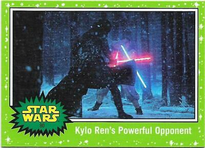 2019 Topps Star Wars Journey to The  Rise of Skywalker Green Starfield #80
