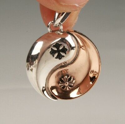 Precious China Solid Silver Pendant Statue Bagua Array Fashionable Ladies Old