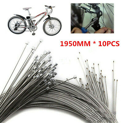10PCS Bicycle Shift Shifter Derailleur Gear Stainless Steel Inner Cable Wire NEW