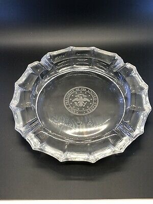 Vice President Crystal Ashtray Signed By Spiro T Agnew