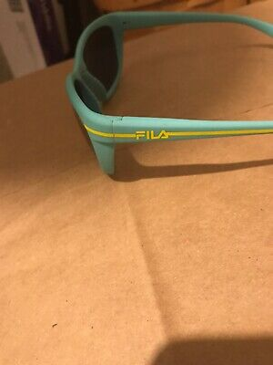 FILA EYES SUNGLASSES Mod. New Sf8141 Made In Italy 54 Black