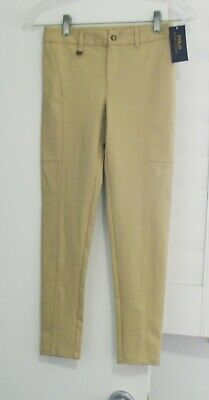 Polo Ralph Lauren Girls Slim Fit Pants Beige Sz 6X - NWT