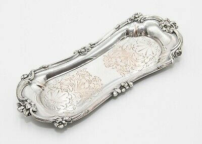 19th C. English Old Sheffield Plate Silver Snuffer Tray Hors d'Oeuvres Jewelry