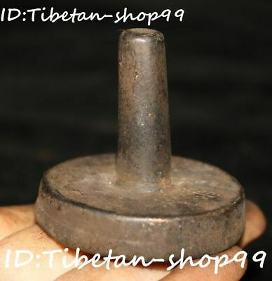Old Tibet Bronze Buddhism Scripture Sutra lection Words Seal Stamp Signet Statue
