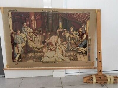 Shearing of the Rams Tapestry with frame