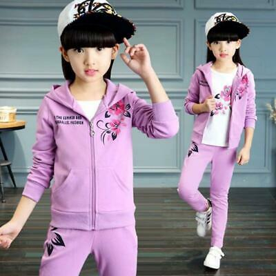 Girls Clothes Jacket Kids Clothing Hoodies+Pants Girl Tracksuit Sport Suit Fall