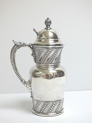 Victorian Silver Plate James W Tufts Syrup Pitcher Honey Jug Ornate