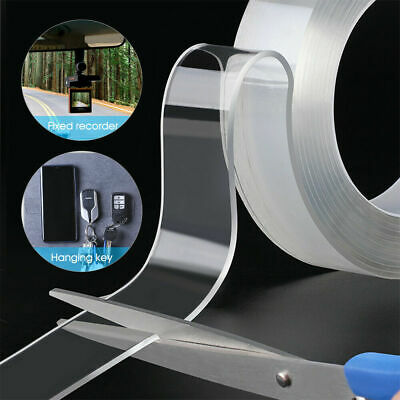 Double-Sided Nano Magic Tape Traceless Clear Adhesive Invisible Gel 7H