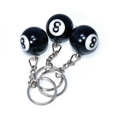 1 Pcs Lucky NO.8 Billiard Pool Keychain Snooker Table Ball Key Ring Gift DC149