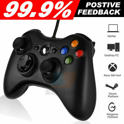 Wired Controller for Windows for Xbox 360 Console PC USB Wired Black AU