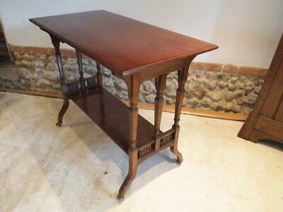 Table fine Victorian Walnut hall side lamp console c1890