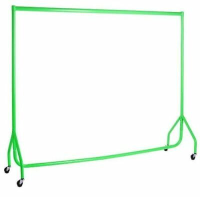 Garment Rails GREEN HEAVY DUTY 6ft Retail Market Hanging Clothes Shop Displays❤